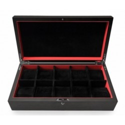 KronoKeeper black ash watch box for 10 watches