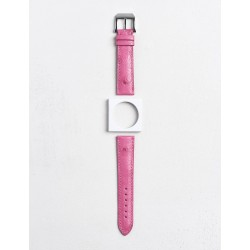 Camille Fournet strap Oostrich pink
