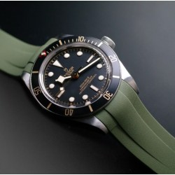 Rubber B strap T801 Military Green with buckle