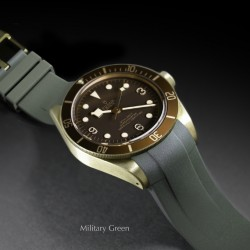 Rubber B strap T803 Military Green with buckle