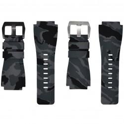 Horus Bracelet Camouflage Caoutchouc pour Bell&Ross graphite