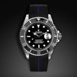 Bracelet RubberB M103 Noir/Bleu
