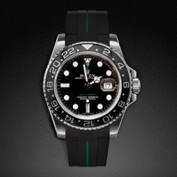 Bracelet RubberB M103CD Noir/Vert