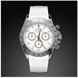 Bracelet RubberB M106CD Blanc avec boucle
