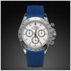 Bracelet RubberB M106CD Bleu avec boucle