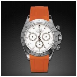 Bracelet RubberB M106CD Orange avec boucle