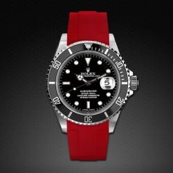 Bracelet RubberB M106CD Rouge avec boucle
