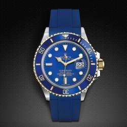 Bracelet RubberB M106 Bleu avec boucle