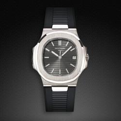 Bracelet RubberB PK77 pour Patek Philippe Nautilus Noir
