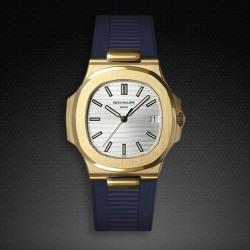 Bracelet RubberB PK77 pour Patek Philippe Nautilus Bleu
