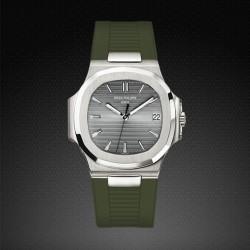 Bracelet RubberB PK77 pour Patek Philippe Nautilus Vert