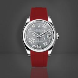 Bracelet RubberB M216 Rouge