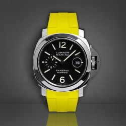 Bracelet RubberB Luminor 44 mm Jaune