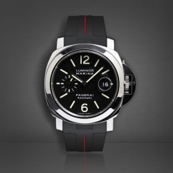 Bracelet RubberB Luminor 44 mm Noir/Rouge