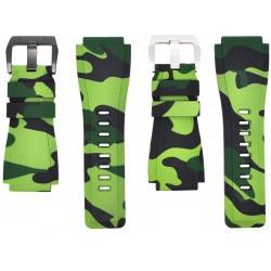 Horus Bracelet Camouflage Caoutchouc pour Bell&Ross vert