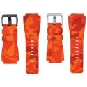Horus Bracelet Camouflage Caoutchouc pour Bell&Ross orange