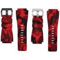 Horus Bracelet Camouflage Caoutchouc pour Bell&Ross rouge