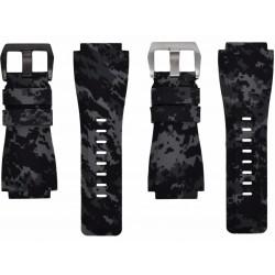 Horus Bracelet Camouflage Caoutchouc pour Bell&Ross digital graphite