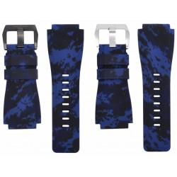 Horus Bracelet Camouflage Caoutchouc pour Bell&Ross digital bleu