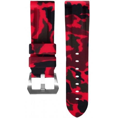 Horus Bracelet Camouflage Caoutchouc pour Panerai rouge