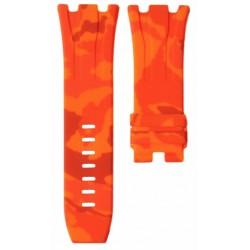 Horus Bracelet Camouflage Rubber Orange pour APROO 44mm