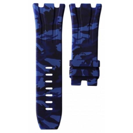 Horus Bracelet Camouflage Rubber Bleu pour APROO 44mm