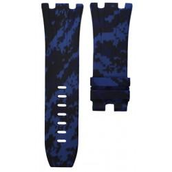 Horus Bracelet Camouflage Rubber Bleu digital pour APROO 44mm