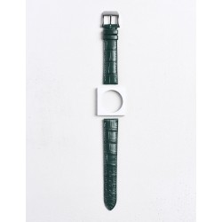 Bracelet Camille Fournet Alligator mat écailles carrées noir