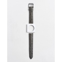 Camille Fournet strap Oostrich charcoal grey