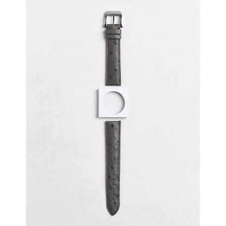 Bracelet Camille Fournet Autruche gris anthracite
