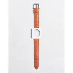 Camille Fournet strap Oostrich orange
