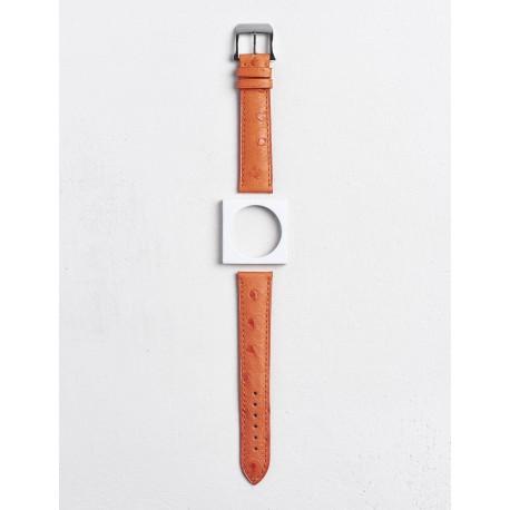 Bracelet Camille Fournet Autruche orange