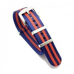 Bracelet Nato Premium - Bleu Foncé / Rouge