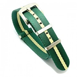 Bracelet Nato Premium - Vert / beige