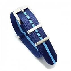 Seat Belt Nato Premium - Dark blue/Light blue