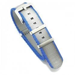 Bracelet Nato Premium - bleu / gris