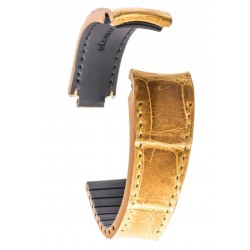 R-Strap Bracelet Alligator pour Rolex - Miel (Tannage Spécial)