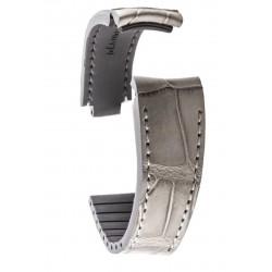 R-Strap Bracelet Alligator pour Rolex - Gris clair