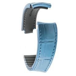 R-Strap Bracelet Aligator pour Rolex - Bleu clair