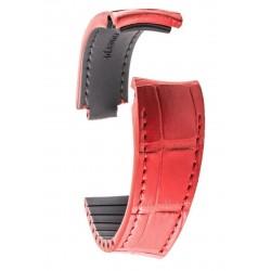 R-Strap Bracelet Aligator pour Rolex - Rouge