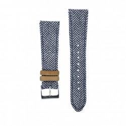 Kronokeeper strap - Gustave white/blue
