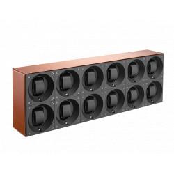 SwissKubiK MasterBox Remontoir par 12 Montres - Cuir