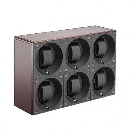 SwissKubiK MasterBox Remontoir par 6 Montres - Cuir