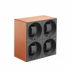 SwissKubiK MasterBox Remontoir par 4 Montres - Cuir