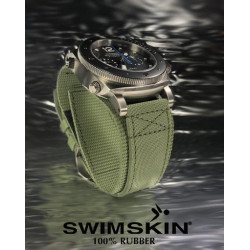 Rubber B Tang Buckle Rubber Cuff Series - Military Green