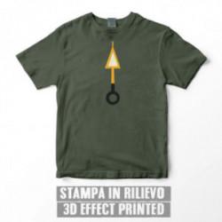 ORANGE ARROW T-SHIRT - Military green