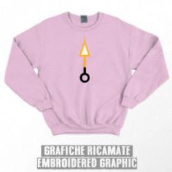 ORANGE ARROW SWEATSHIRT - Pink
