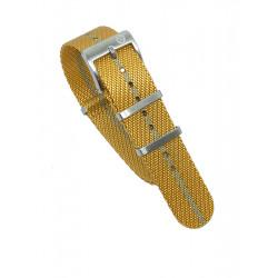 Premium nato strap - Orange/Khaki