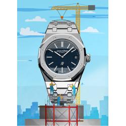 Watchoniste X MisterChrono tirage d'art - skyscraper - 60x80