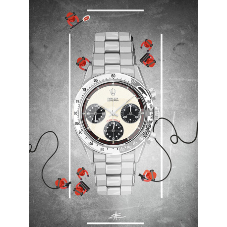 Watchoniste X MisterChrono art printing - daytona - 60x80